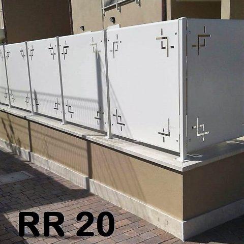 Ringhiera per recinto in ferro battuto RR 20