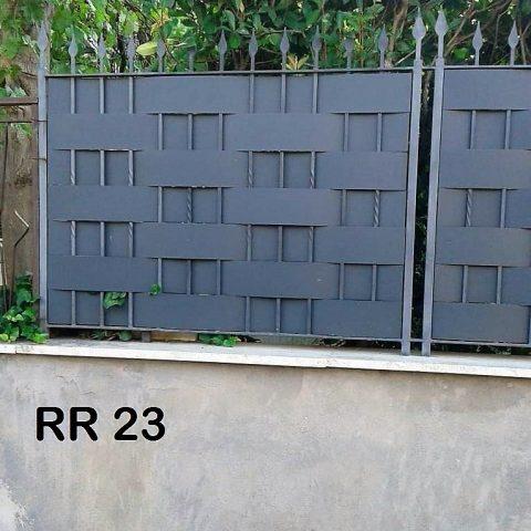Ringhiera per recinto in ferro battuto RR 23