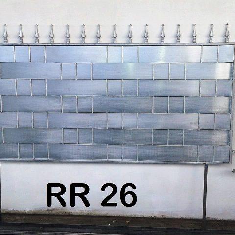 Ringhiera per recinto in ferro battuto RR 26