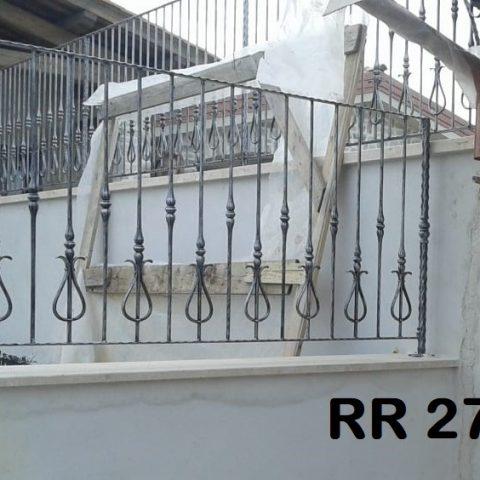 Ringhiera per recinto in ferro battuto RR 27