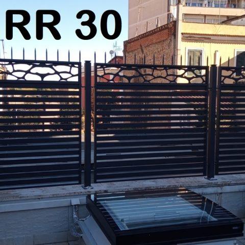 Ringhiera per recinto in ferro battuto RR 30