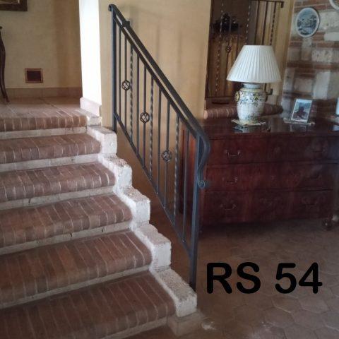 Ringhiera per scala in ferro battuto RS 54
