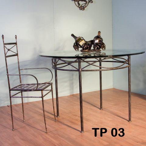 Tavolo da pranzo in ferro battuto TP 03