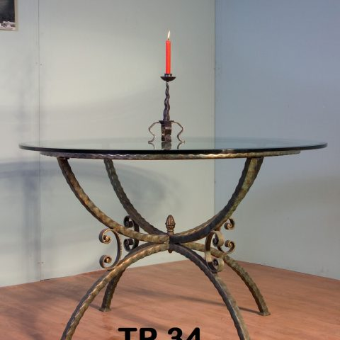 Tavolo da pranzo in ferro battuto TP 34