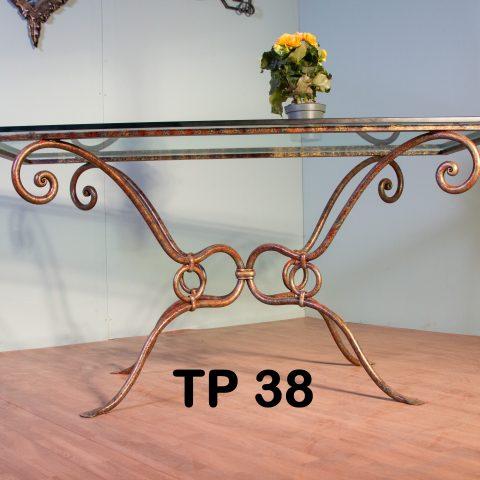 Tavolo da pranzo in ferro battuto TP 38