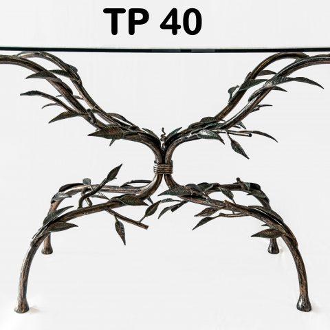 Tavolo da pranzo in ferro battuto TP 40