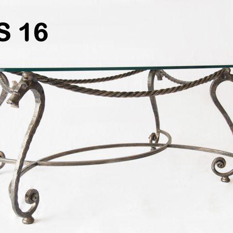Tavolino da salotto in ferro battuto TS 16