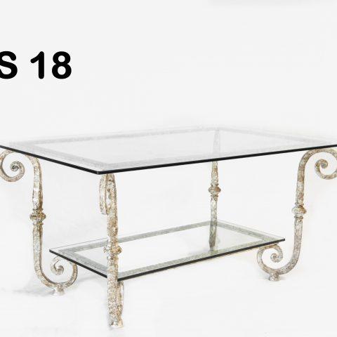 Tavolino da salotto in ferro battuto TS 18