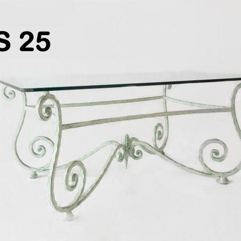 Tavolino da salotto in ferro battuto TS 25