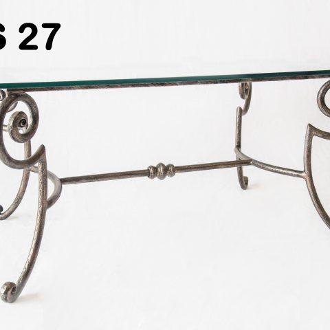 Tavolino da salotto in ferro battuto TS 27