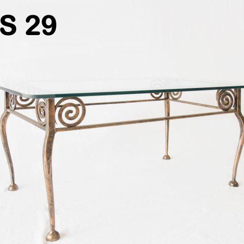 Tavolino da salotto in ferro battuto TS 29