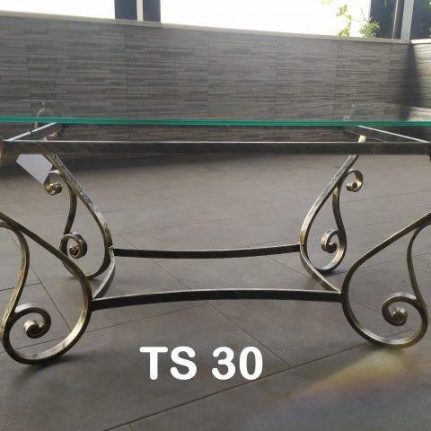 Tavolino da salotto in ferro battuto TS 30