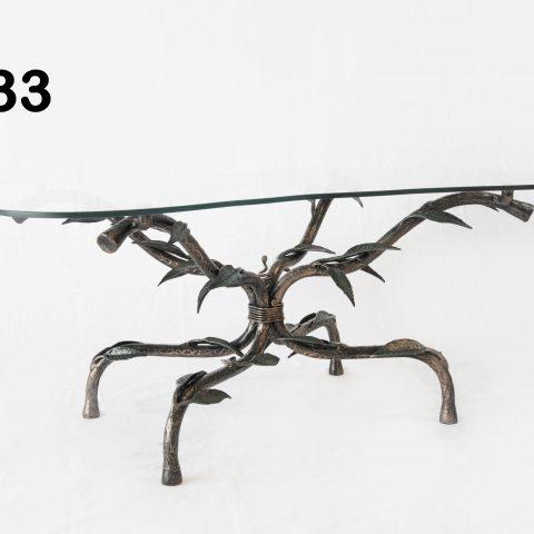 Tavolino da salotto in ferro battuto TS 33