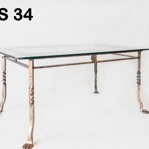 Tavolino da salotto in ferro battuto TS 34