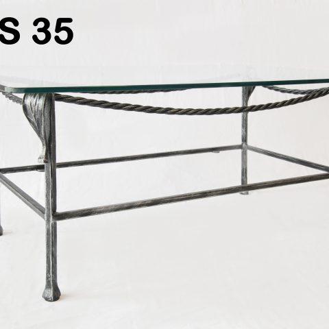 Tavolino da salotto in ferro battuto TS 35