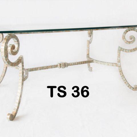 Tavolino da salotto in ferro battuto TS 36