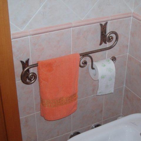 Porta asciugamani duo in ferro battuto AB 02
