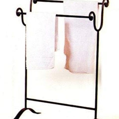 Porta asciugamani da terra in ferro battuto AB 06