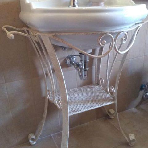 Porta lavabo in ferro battuto AB 11