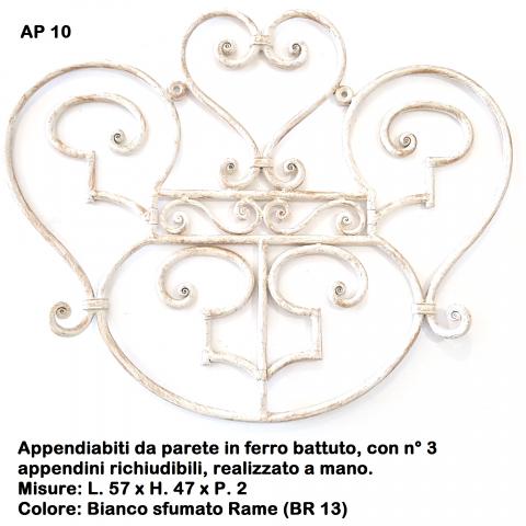 Appendiabiti in ferro battuto AP 10