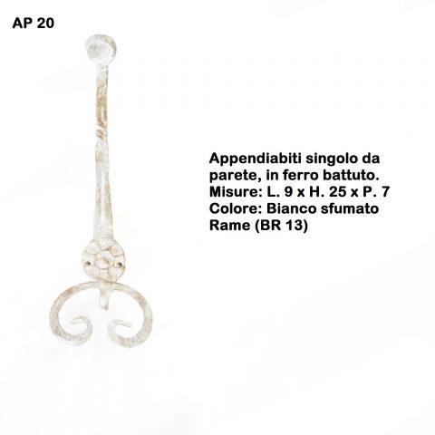 Appendiabiti in ferro battuto AP 20