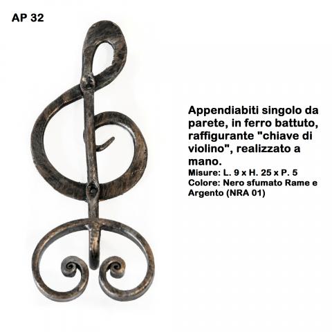 Appendiabiti in ferro battuto AP 32