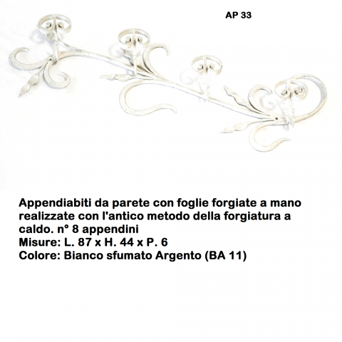 Appendiabiti in ferro battuto AP 33