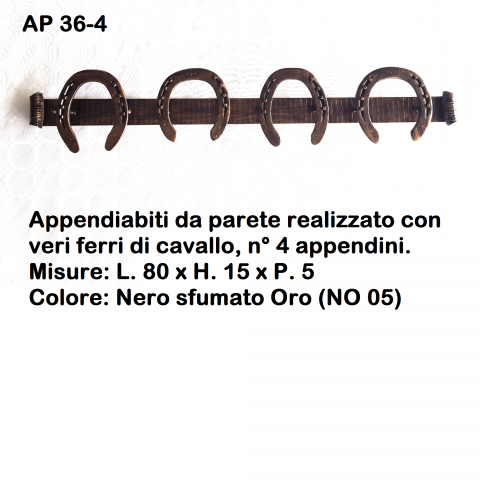 Appendiabiti in ferro battuto AP 36 4 – 3 – 2
