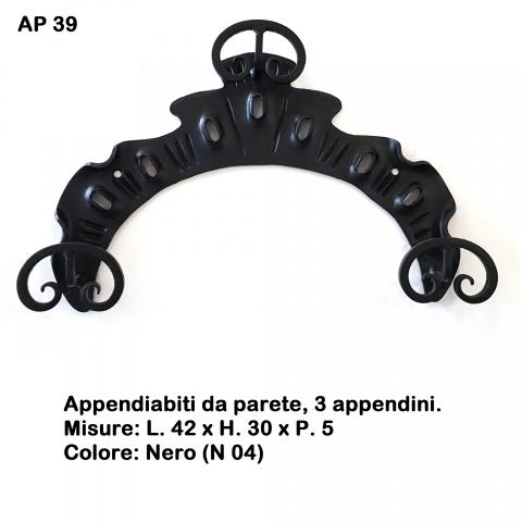 Appendiabiti in ferro battuto AP 39
