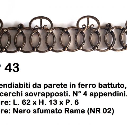 Appendiabiti in ferro battuto AP 43