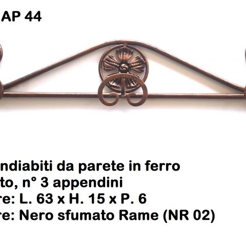 Appendiabiti in ferro battuto AP 44
