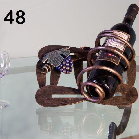 Porta bottiglie in ferro battuto CA 48