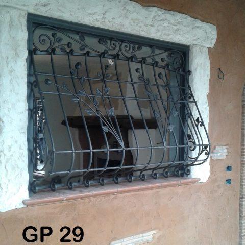 Grata di protezione in ferro battuto GP 29