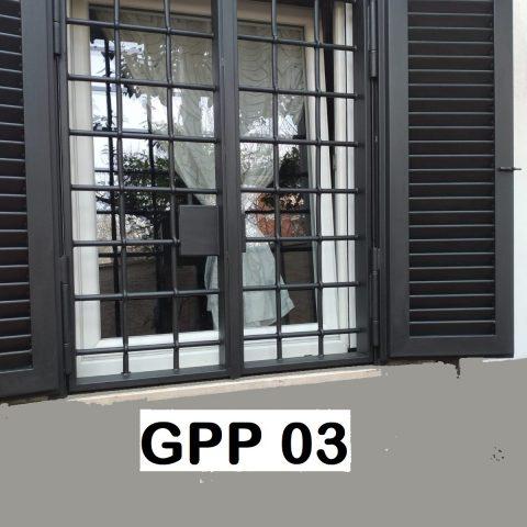 Combinata Grata/Persiana di protezione in ferro battuto GPP 03