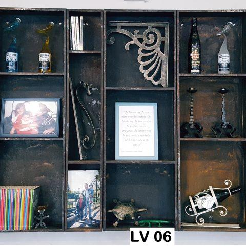 Libreria/scaffalatura in ferro LV 06