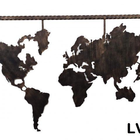 Planisfero a parete in ferro LV 08