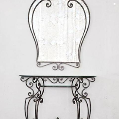 Cornice per specchio in ferro battuto SP 03