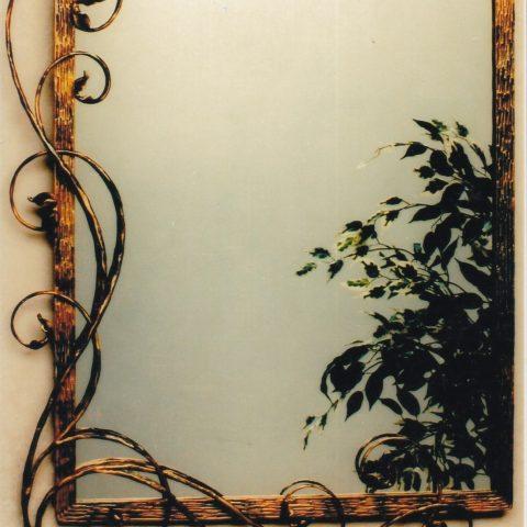 Cornice per specchio in ferro battuto SP 16